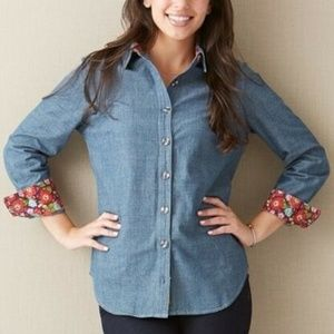 MATILDA JANE  Liberty Denim Button Front Shirt